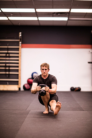 Pistol Squat with KB